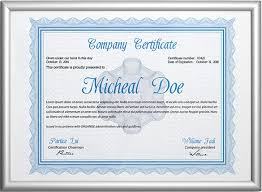 professional certificate template 21 free word format download