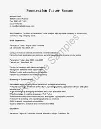 Sample Resume Of Software Tester by Qtp Resume Resume Cv Cover Letter