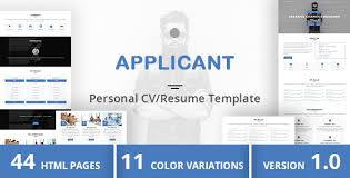 Resume Web Template Html Online Cv U0026 Resume Templates From Themeforest