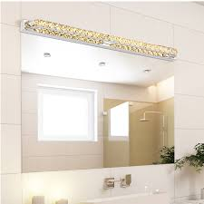 crystal sconces for bathroom modern led crystal bathroom mirror sconces light 23w over mirrors