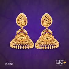 earrings in grt ezwed grt jewellers wedding jewellery shop in chennai