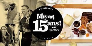 ricardo cuisine concours ricardocuisine com concours 15e on a 15 ans grâce à vous