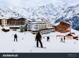 mountains ski resort solden austria nature stock photo 118212640