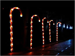 Outdoor Candy Cane Lights by Candy Cane Pathway Light For Christmas Decoration Led Rechargeable