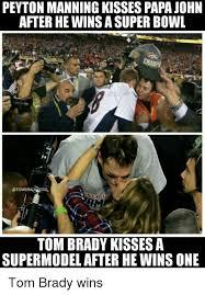 Peyton Manning Super Bowl Meme - peyton manning kissespapa john after hewinsa super bowl er e tom