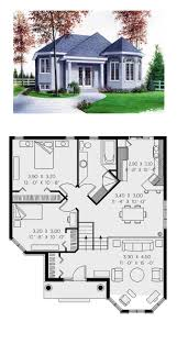 victorian house plan 65268 total living area 1001 sq ft 2