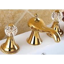 dual handle mixer tap gold bathroom faucet