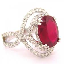 ruby diamond ring oval ruby and cut diamond ring micro pave set 4 78ctw