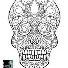 sugar skull coloring az coloring pages sugar skull