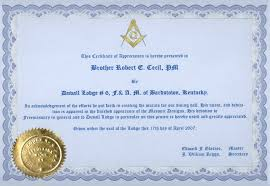 Free Online Certificate Template 8 Best Images Of Printable Masonic Certificate Online Masonic