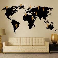 Map Wall Decor by World Map Wall Decor Vinyl Stickers Cutzz