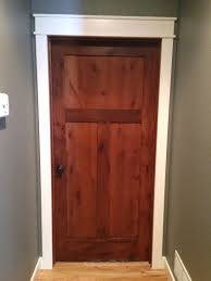 Knotty Alder Interior Door by Rustic Alder Doors With White Casings And Trim My Lake Home
