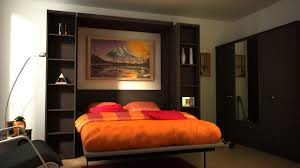 Orange Bedroom Walls Fold Up Wall Bed A Brand New Style To Have Comfortable Bedroom