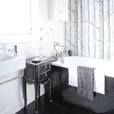 Black And White Wallpaper For Bathrooms - black and white bathroom designs ideal home