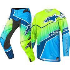 kawasaki motocross jersey alpinestars 2017 mx new techstar venom fluro yellow cyan blue