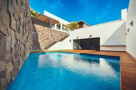 Small Pool Houses Slope Houses Ideas Trendir 18 3 Level House Has Deck Over Pool