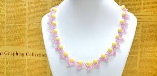 bead lace necklace images Free pattern for beading a lace necklace with seed beads jpg