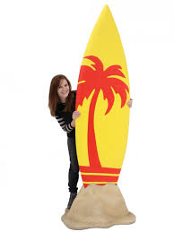 surfboard prop palm tree design caribbean theme
