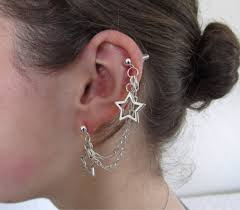 awesome cartilage earrings unique ear piercings cool cartilage earrings glam bistro