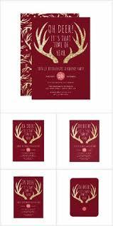 elegant poinsettia holiday dinner party invitation