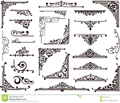 ornamental design borders and corners stock vector image 45448719