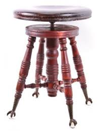 claw foot table with glass balls in the claw c 1890 s solid mahogany wood antique piano stool with metal glass