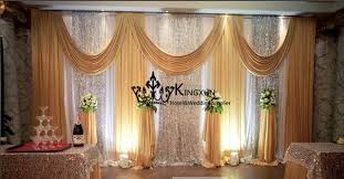 wedding backdrop prices white and gold wedding backdrop curtain drape with sequin fabric