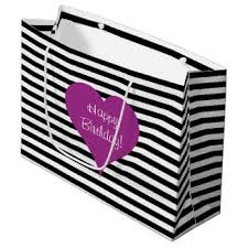 black and white striped gift bags pink and white stripes gift bags zazzle