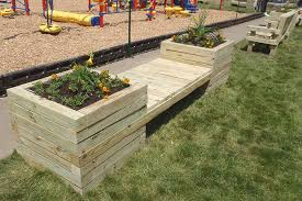 How To Make A Simple Wooden Bench - how to build a planter bench kaboom