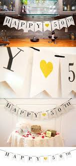 25 anniversary decorations ideas on diy 50th