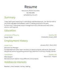 Sample Of Resume Format by Examples Of Simple Resumes Haadyaooverbayresort Com