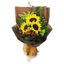 sunflower bouquet florist kl malaysia delivering fresh flowers everyday online