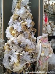 white tree with gold decorations designcorner
