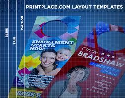door hangers templates free download printplace com