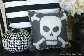 felt skull halloween pillow target knock off