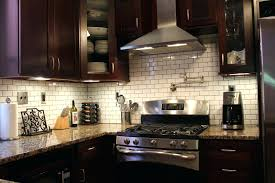 stainless steel and glass tile backsplash kitchen adorable metal