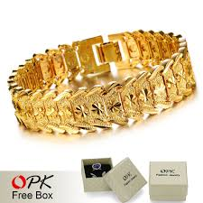aliexpress buy new arrival 18k real gold plated opk new arrival 18k real gold plated charm bracelet special wrist