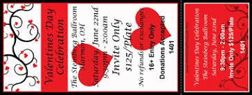 valentine raffle tickets all purpose event ticket printing
