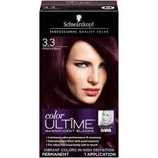 schwarzkopf color ultime hair color cream 3 3 amethyst black