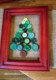 organized clutter framed button box snowman u0026 christmas tree