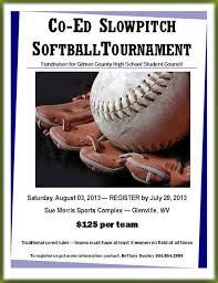flyers for slowpitch softball tournament flyer www gooflyers com