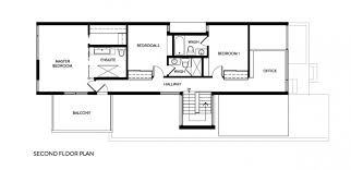 dining room second floor plan contemporary two story house design