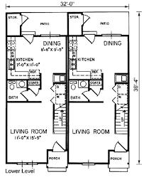 House Plans For Two Families Duplex Home Plans At Coolhouseplans Com