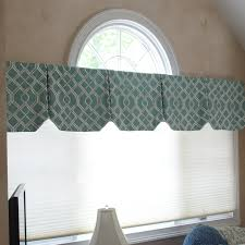 Linen Valance Box Pleat Valances With Angled Hems Decorate This Palladium Window