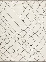 White Modern Rug by Contemporary Large Beni Ourain Moroccan Rug 47916 Main Image By