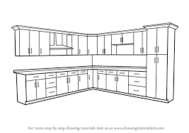 furniture kitchen cabinet learn how to draw kitchen cabinets furniture step by step