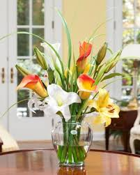 silk flower arrangements amazon com calla day lily silk flower arrangement home kitchen