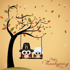 abstract owls on special thanksgiving day background royalty