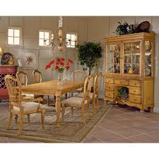 Chair Casual Dining Table In Bisque With Natural Pine Finish Solid - Pine dining room sets