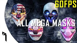Payday Halloween Costume Payday 2 Completely Overkill Pack Mega Masks